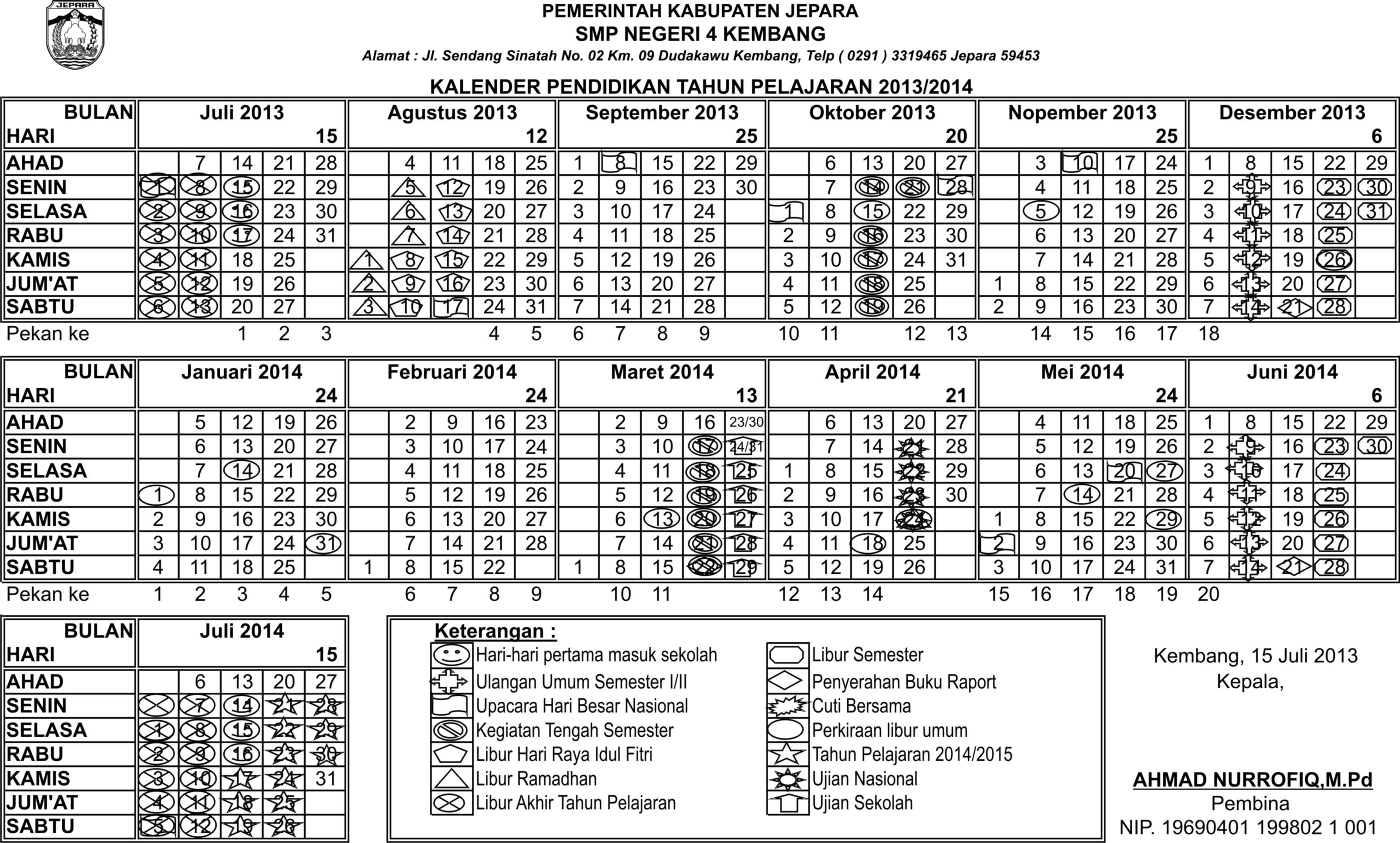 Kalender Pendidikan Nasional 2014 | New Calendar Template Site